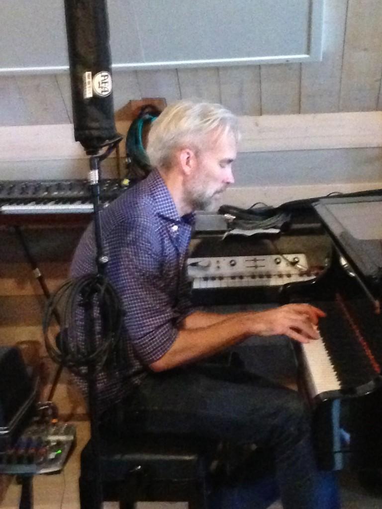 Olle Linder på Studio Epidemin. Karin Boye Dec 2013