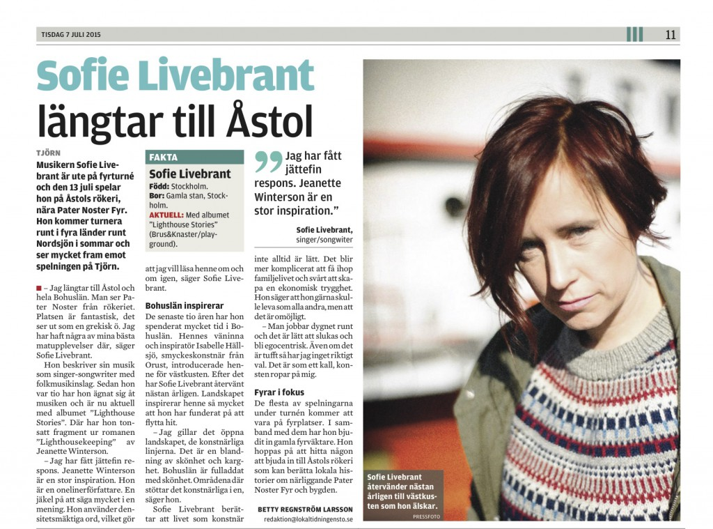 Lokaltidningensto intervju - Livebrant